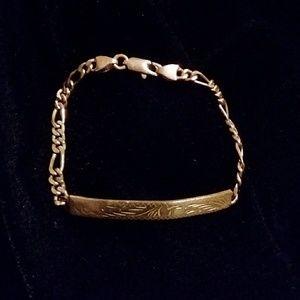Vintage Gold Bar Bracelet